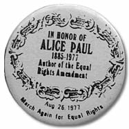 In Honor of Alice Paul button